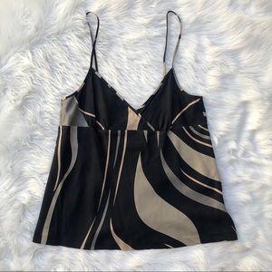 Theory large camisole blouse top large lg black